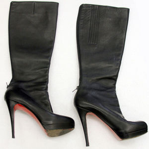 Christian Louboutin Leather Bandita Knee-Hgh Boots